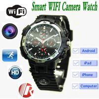 Wholesale Wireless Voice Monitor - Y31 Wifi Smart Watch 720P HD wireless remote monitoring Quartz Wrist Watch with hidden Camera Compass Voice Video Recording spy camera ann