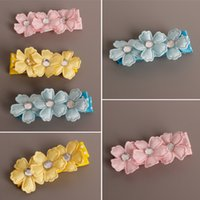 Wholesale Hairclip Flowers - Wholesale 30pcs lot 3C Cute Floral Baby Girls Hairclip Fashion Baby Infant Cartoon Flower Girls Hairpins Hair Accessories