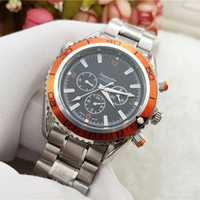 Wholesale Analog Wrist Watch Waterproof Mechanical - Fashion luxury men Mechanical automatic watch All dials work Wrist watches For mens Stainless Steel band Stopwatch WaterProof Reloj Hombre
