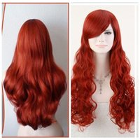 sexy POISON IVY Batman Red Long Wavy 80cm 32