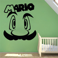 pegatinas de pared mario al por mayor-Pegatina de vinilo Tattoo Wall Super Mario Juego Retro Home Video Game Hero Interior pintura de la pared Decoración DIY