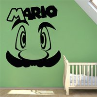 Wholesale Interior Design Kids Bedroom - Vinyl Sticker Tattoo Wall Super Mario Game Retro Home Video Game Hero Interior Wall Painting Decoration DIY