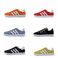 Top Quaity 2017 Hombres Mujeres Casual Primavera Verano Otoño Suede azelle Racer Negro Rojo Gris Naranja Lightweght Breathable Walking Shoes 36-45
