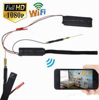 Wholesale cctv ip module resale online - WIFI Module mini IP camera P2P DIY Camera FULL HD P Pinhole Camera Wireless surveillance CCTV Cam Home security DV DVR