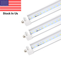 Wholesale Replacement Fluorescent Bulbs - 45w T8 8FT LED Tube Light,Single Pin FA8 Base,6000K Cold White,4800 Lumens,Fluorescent Bulb Replacement,Clear Cover, Dual-Ended Power