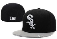 Wholesale Sell Spring Letter - Best-Selling MLB White Sox Embroidery Letter Fitted Hat Men Women Structured Fit Classic Sport Baseball Cap