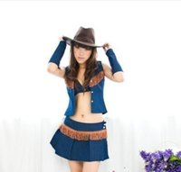 Leader Dance Performance Razha Kleider Jazz Dance Western Cowboy Bühne Performance Fun Uniformen Sexy Frauen Kostüm