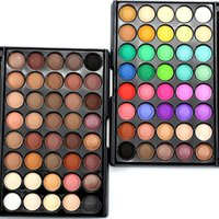 Wholesale Shimmer Eye Shadows - perfect! 40 Colors Smoky Matte  Shimmer Eyeshadow Pallete Mixed Color Baking Powder Eye Shadow Palette Naked Nude Glitter Cosmetic Set