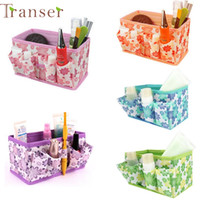 Wholesale Makeup Organiser Box - Wholesale- Cosmetic bag makeup bag new Makeup Cosmetic Storage Box Bag Bright Organiser Foldable Stationary Container 0213 drop shipping