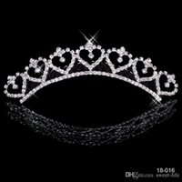 Wholesale Tiara Bride Crown - Most Popular Cheap 18016 2017 Alloy Shining Crowns Wedding Bride Tiaras Rhinestone Fashion Crowns For Bride Prom Evening 18016