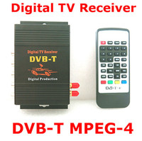 Wholesale Mobile Mpeg4 Digital Tv - Hd Dvb-T Mpeg2 Mpeg4 Tv Receiver Box Tuner Dual Antenna Car Mobile Digital Tv Box