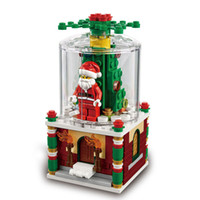 Wholesale Blocks Santa - Lepin 36004 Snowglobe Christmas Block Set with Santa Claus Minifigures 241Pcs Xmas Gift For Children With Box