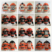 Wholesale Ice Hockey Hoodies - Philadelphia Flyers Stadium Series hoodies Wayne Simmonds Claude Giroux Gostisbehere Voracek Ivan Provorov Lindros Hoody Jersey Sweatshirts