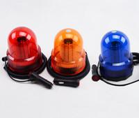 Wholesale Red Flashing Beacon Light - LED Flashing Warning Light Caution Emergency Light Magnetic Beacon Strobe for Car Lorry Van Truck