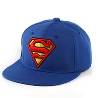 2016 Neue Kinder Hip Hop Hüte Flat Edge Ball Caps Sport Bboy Snapback Baseball Caps Verstellbare Mode Superman Hüte Cool Free Shipping