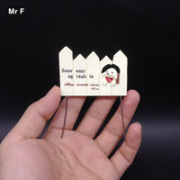 Wholesale Dog Toy Simulation Model - Cute Simulation Model Toy Kid Little Dog On The Fence Model Scene Resin Miniatures DIY Mind Game Wire Inside
