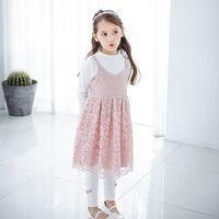 Wholesale Dress Childen - Everweekend Girls Lace Ruffles Summer Halter Dress Western Party Princess Childen Dress Sweet Fashion Baby Clothing