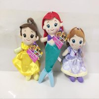 Wholesale Little Mermaid Dolls - Princess Doll Cinderella Plush Toy The Little Mermaid Stuffed Doll Soft Baby Toy Gift size20-26cm