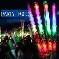 yanıp sönen parıltı çubuğu ışık çubukları toptan satış-Toptan-Renkli Işık-Up Yanıp Sönen Rave Yanıp Sönen LED Strobe Değneklerini Konser Parti Glow 17 FJ88