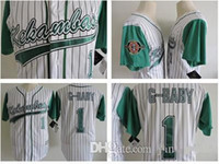 Wholesale Sew Embroidery Patches - The Hardball film #1 Jarius 'G-Baby' Evans Stitched Kekambas Includes Patch Embroidery Sewn-Green White S-XXXL Baseball jerseys