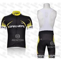 Wholesale Garneau Cycling - new style Tour De France Garneau Cycling Jersey Short Sleeve Bib Set Breathable Bike Jersey Padded Cycle Shorts Cycling Clothes Size S-4XL