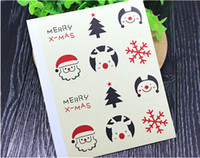 Wholesale Diy Party Favor Cake - Wholesale- 120x DIY Scrapbooking Merry Christmas Gift Kraft Sticker Cookie Cake Gift Labels Stickers Kitchen Sweets Party Seal Sticker