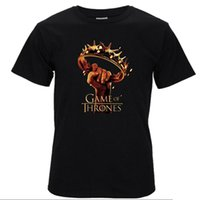 Wholesale green t house - cotton Game of Thrones men tshirt ours is the fury men's tee shirts tops men house baratheon T-shirt casual mens t shirts T01