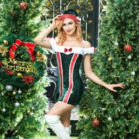 Wholesale Clothed Ship Porn - Cosplay Christmas Lady uniform sets Sexy suits Night club sets Porn Sex Christmas Clothes sets free shipping