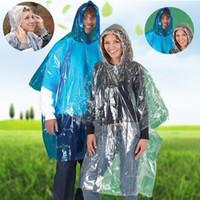 Wholesale Disposable Ponchos - One-time Raincoat Fashion Disposable PVC Raincoats Poncho Rainwear Travel Rain Coat Rain Wear Travel Rain Coat IA025
