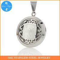 Wholesale Gold Scorpio Pendant - Hot Classic Zodiac Scorpio Stainless Steel Pendant Hollow Box Design Fashion Jewelry For Man and Women