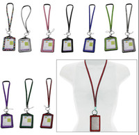 Wholesale Green Ego Necklace - Pendant Necklaces 10pcs Each color Rhinestone lanyard crystal ego ID bangle job card long lanyard many colors for choose