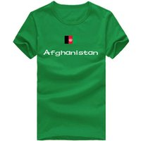 Wholesale Blue Shirt Nation - Afghanistan T shirt Fencing sport short sleeve Cheering people tees Nation flag clothing Unisex cotton Tshirt