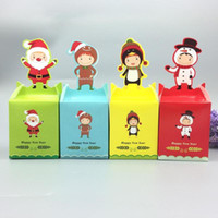 Wholesale A5 Gift Box - Wholesale- 1PC DIY Portable Christmas Cookies Candy Gifts Box Paper Packaging Box Kids Party Favor Supplies Xmas NEW YEAR Art Decoration A5