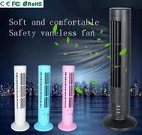 spot air conditioner - Factory direct selling Mini tower fan USB non leaf super silent gift fan student double file air conditioner fan spot