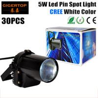Wholesale Spotlight For Wedding - By Fedex 30pcs lot 5W Cree LED Pin Spot Light LED DJ Stage Spot Effect Light DMX Mini Spotlight Rain Light For Party Wedding