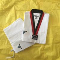 Wholesale Dobok Taekwondo - Wholesale Korea Brand KOELON adult children long-sleeve white taekwondo dobok suits Professional fringe paragraph uniform for beginners