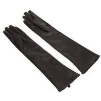 Wholesale Wholesale Long Leather Gloves - Wholesale- IMC Women's Ladies' Long Soft Artificial Leather Gloves--Black