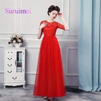 Wholesale Cover Photo New Flower - New Real Photo Fashion Elegant O-Neck A-Line Long Evening Dresses 2018 Tulle Beading Flower Women For Formal Prom Party Gowns Hot Sale