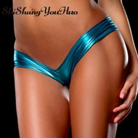 Wholesale Thongs Plus Size 4xl - shishangyouhuo Sexy Women Lingerie Hot G String Thong Briefs Underwear G-String Panties T Back Leather Big Plus Size M-6XL P5013