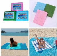 Wholesale Travel Picnic Blanket - 150*200cm Summer Magical Sand Free Beach Blanket Sand Proof Picnic Camping Mat Sandless Mat Sand Free Mat 100 Pcs DZ01