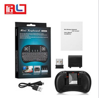 Teclado inalámbrico rii i8 teclados Fly Air Mouse Multi Media Control Remoto Touchpad Handheld para TV BOX Android Mini PC B-FS