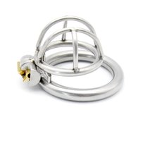 Wholesale sex small china - China Factory Price Latest Design Super Small Male Stainless Steel 28mm Penis Cage Chastity Belt Device Cock ring BDSM Sex toys