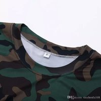 Wholesale Xxl Sweat Shirts - Outdoor sports tights fitness clothes men short - sleeved camouflage clothing sweat sweat dry running basketball T - shirt