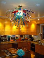 Wholesale beds discount for sale - Big Discount Interior Art Glass Chandelier India Flower Shape Bed Room Decor Colored Glass Pendant Light