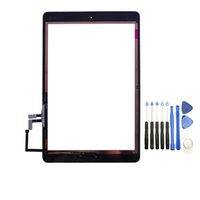 Wholesale Ipad Air Tools - 10PCS Touch Screen Glass Panel Digitizer with Buttons Adhesive Assmembly for iPad Air with Tools Black and White