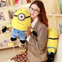 Wholesale Despicable Dhl - 33CM Minion Plush Toy Despicable ME Movie Jorge Stewart Dave Minions 3D Two eyes single eye Smile Cute Lovely Doll 18CM 25CM 50CM 90CM DHL