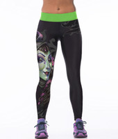 Wholesale Witch Wear - wholesale yoga witch head printed pants yoga sweatpants tight panties for womens Leggings sport wear training pants free size sweatpants