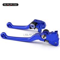 yamaha yol toptan satış-YAMAHA YZ 250F / 426F / 450F YZ250F YZ450F YZ426F 2009-2015 için Mavi Motosiklet Dirt Bike Off-road CNC Pivot Fren Debriyaj Kolu