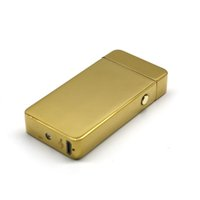 Wholesale double cigarette lighter dual usb resale online - USB Electric Dual Arc Metal Flameless Torch Rechargeable Windproof Lighter Double arc pulse cross ligthers smoking lighter