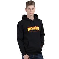 Wholesale Wholesale Long Fleece Hoodie - Wholesale- Fashion hoodies men hip hop pullover hoodie men brand skateboard sportswear kanye west fleece tracksuit Sweatshirt 2017